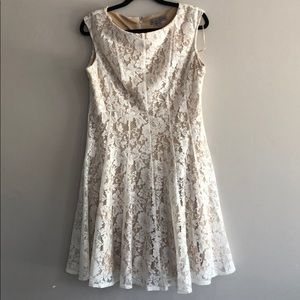 White lace dress by Danny & Nicole